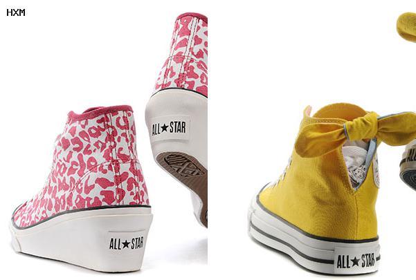 zapatillas converse de cuero mujer